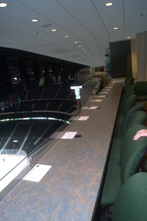 Xcel Center press box row