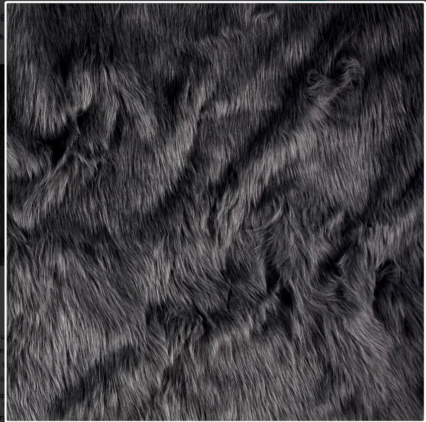 Dark Grey faux fur fabric