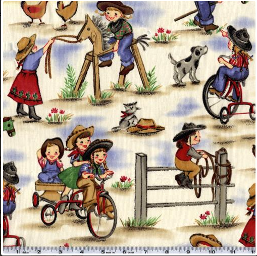 Michael Miller Cowgirls Fabric