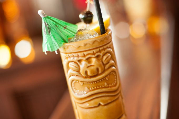 Make this Holy Mole cocktail tonight! It's a bourbon based tiki drink that's got a sweet heat.