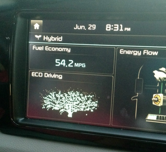 Kia Niro gets 54 MPG