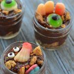 Creepy Zombie Apocalypse Pudding that's Perfect for Halloween
