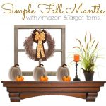 Check out this easy and simple rustic fall mantel decorating idea