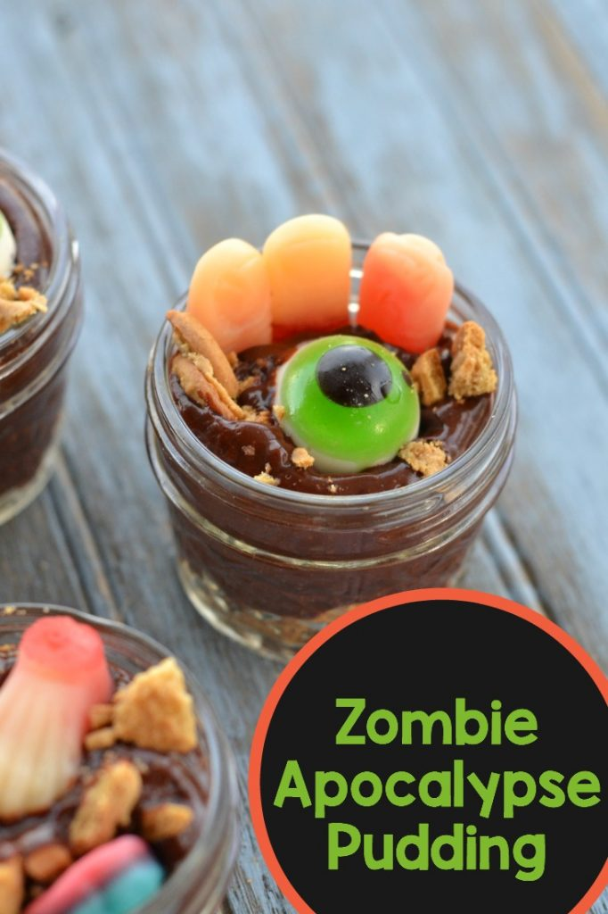 Make this amazingly easy Zombie Apocalypse pudding for your next gathering