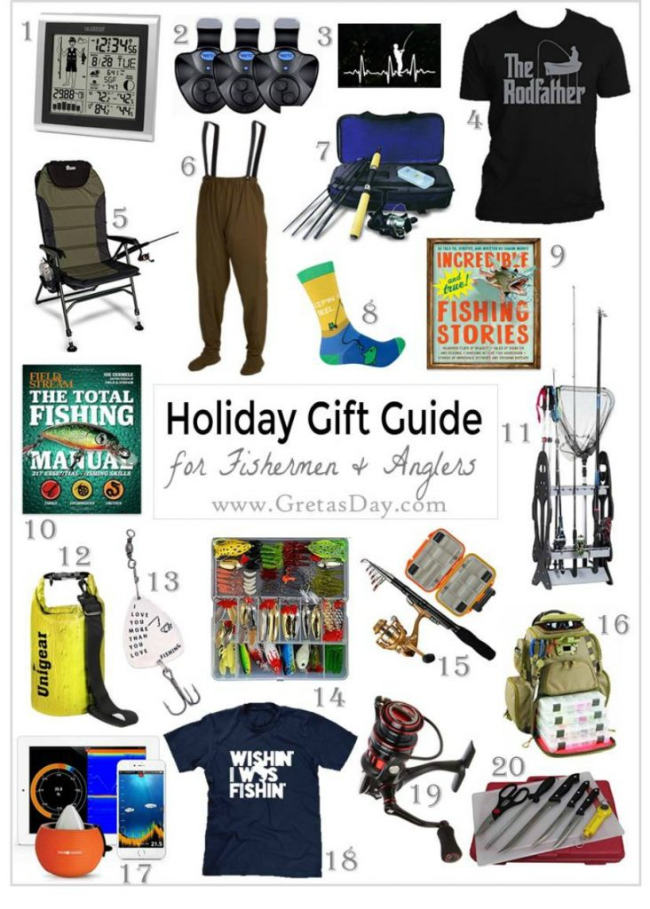 Gift ideas for the fisherman in your life. Most of these fishing gifts are from Amazon, and can be ordered with Prime, too
