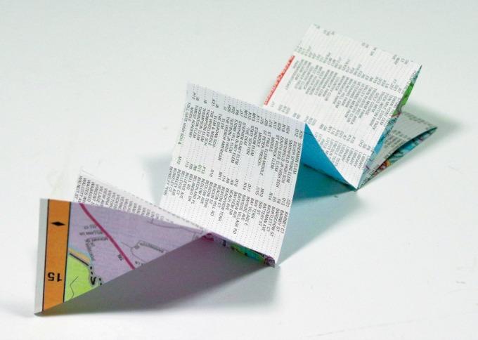 Crane Egg Origami Paper Garland step 1