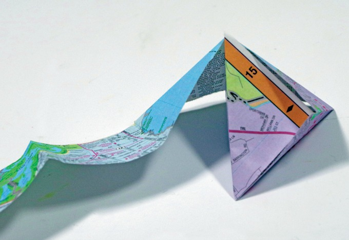 crane garland origami step 4