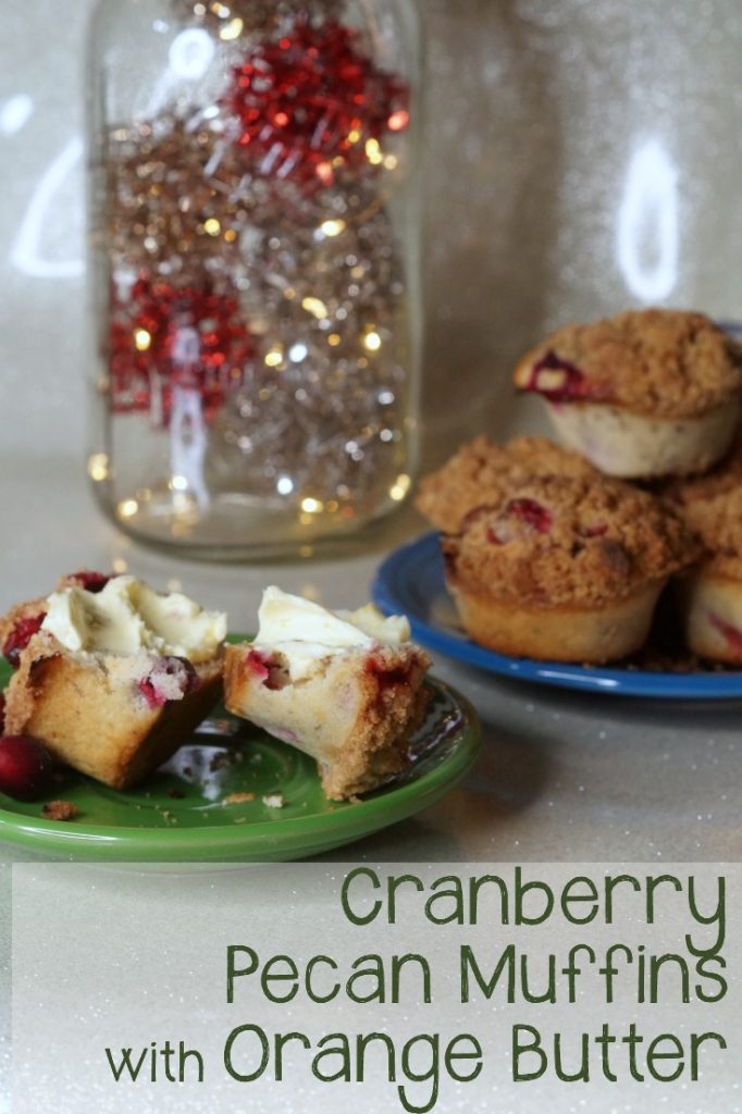 These delicious Cranberry Pecan Muffins are so easy to make, anyone can do it. Pair them with the sweet orange butter for a great, adult take on Cranberry Orange muffins. Perfect for a holiday breakfast or brunch.