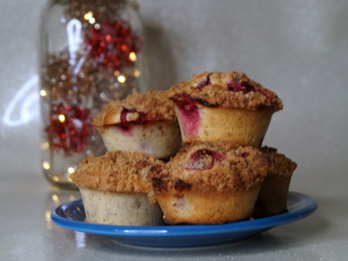 Simple and easy Cranberry pecan muffins from scratch