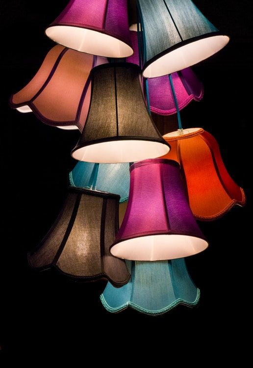 Unique light fixtures bring a lot of personality to a room
