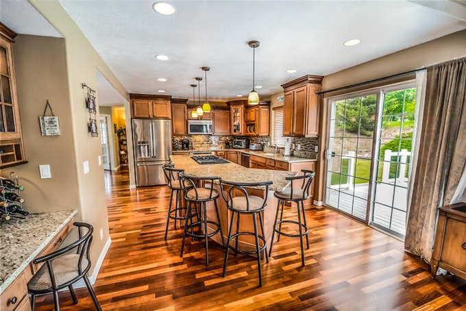 Kitchens are a great place for hardwood floors