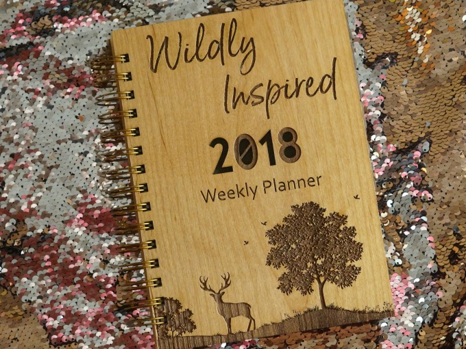 Wildly Inspired wooden planner by Indigo Ember