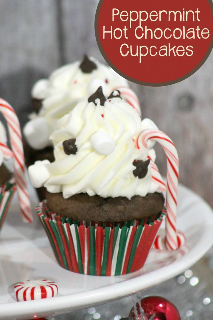 Peppermint Cocoa is one of the real treats of the holiday season. These delicious cupcakes take that flavor and add it into these Peppermint Hot Chocolate cupcake recipe with Peppermint frosting.