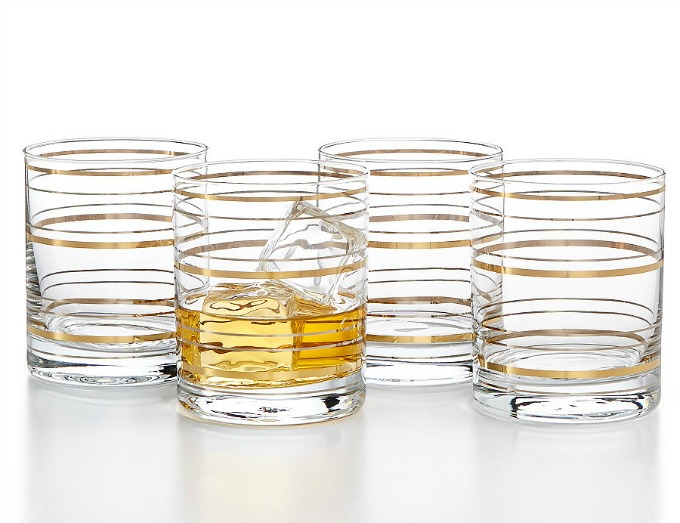 Martha Stewart Old Fashioned Barware with a twist glasses