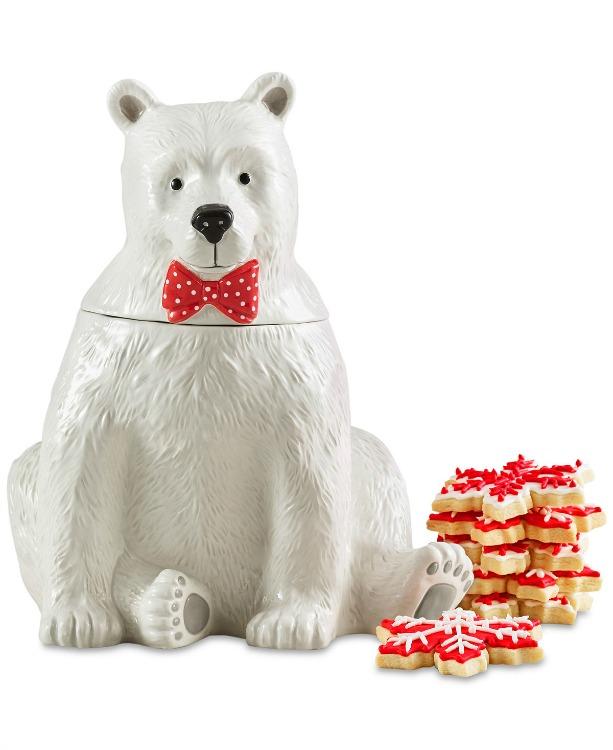 Martha Stewart Polar Bear Cookie Jar 2017