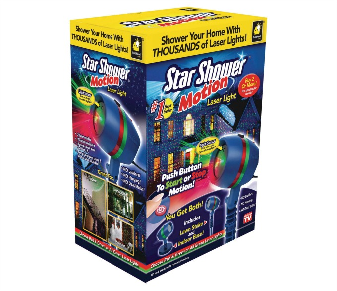 star shower instant christmas decorations