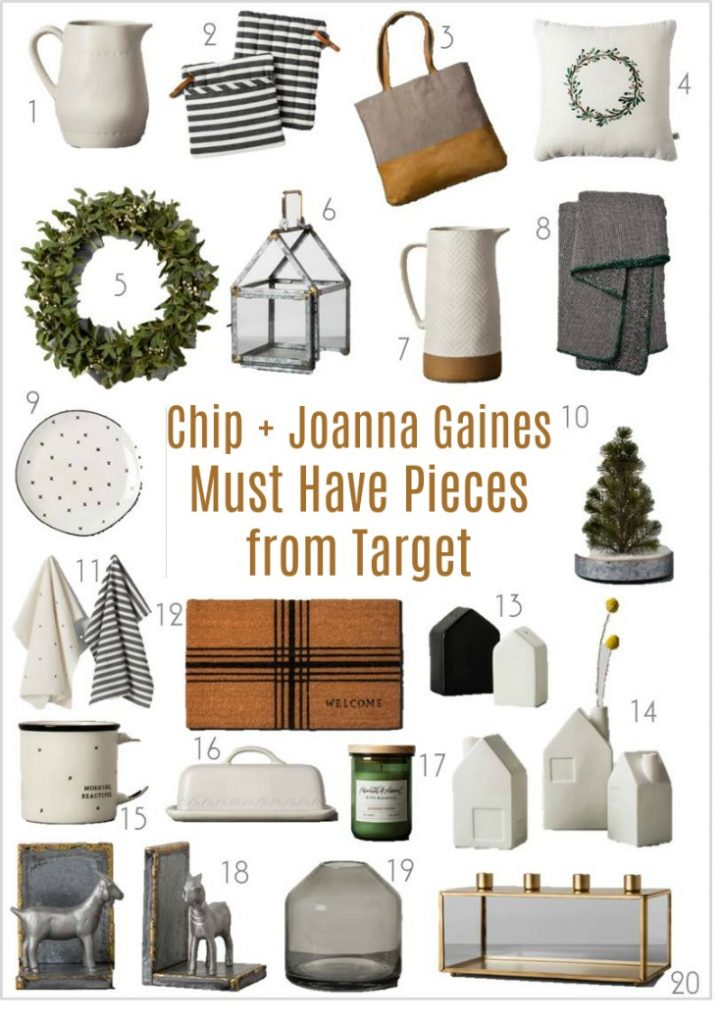 Everyone loves Chip and Joanna Gaines, and Magnolia. These are a few of our favoites from their Farmhouse Industrial design line available at Target