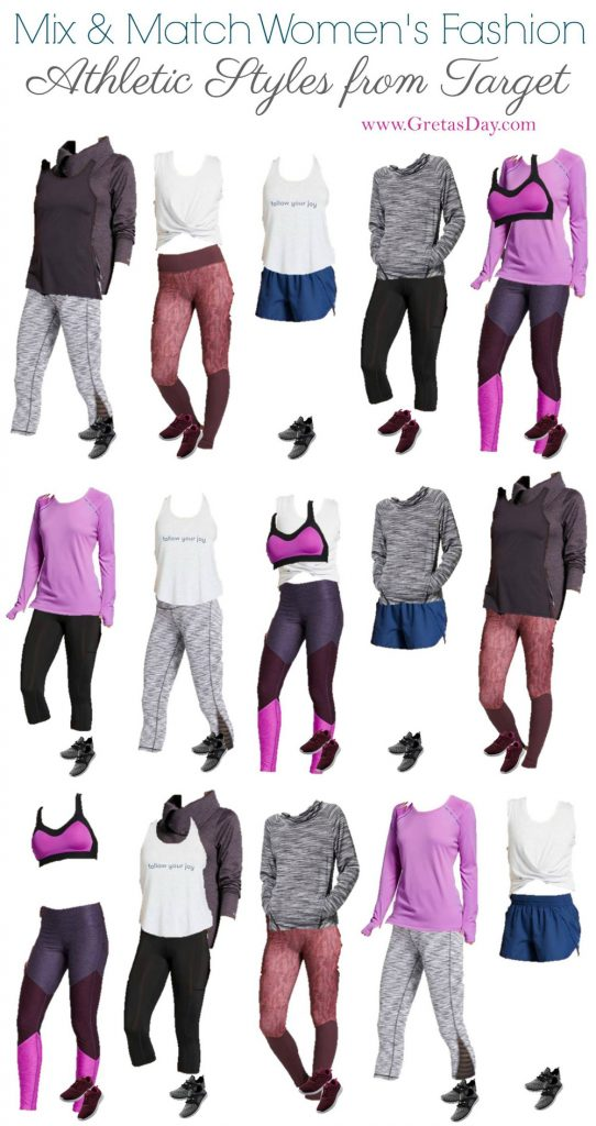 Working out and getting fit seems to be on everyone's list for the new year. You're going to need clothes. This Mix and Match wardrobe of Workout Wear from Target is exactly what you need.