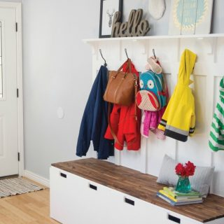 How to Hack an IKEA Bench into a Custom Mudroom Bench