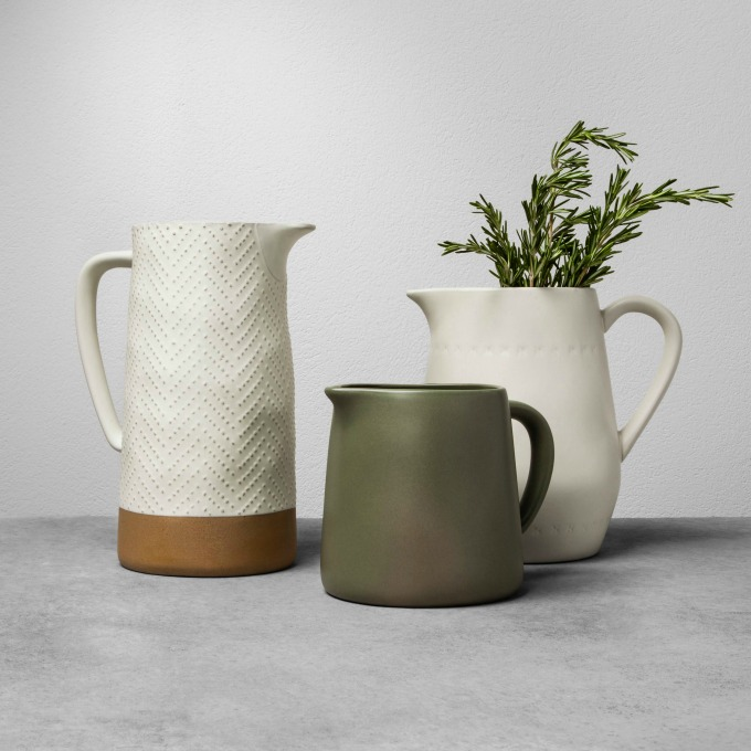 Magnolia x Hearth and Hand Stoneware pitchers