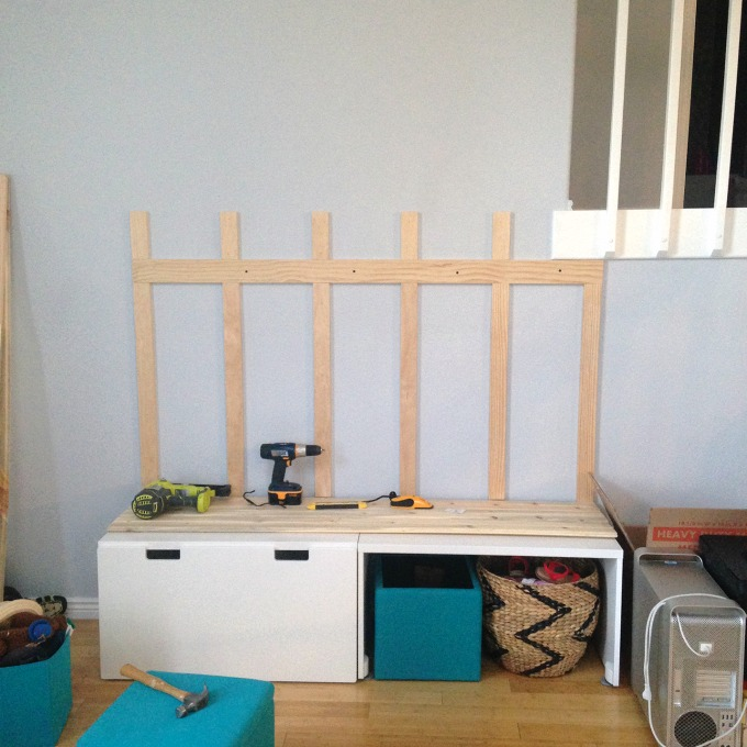 DIY Ikea Hack Mudroom bench