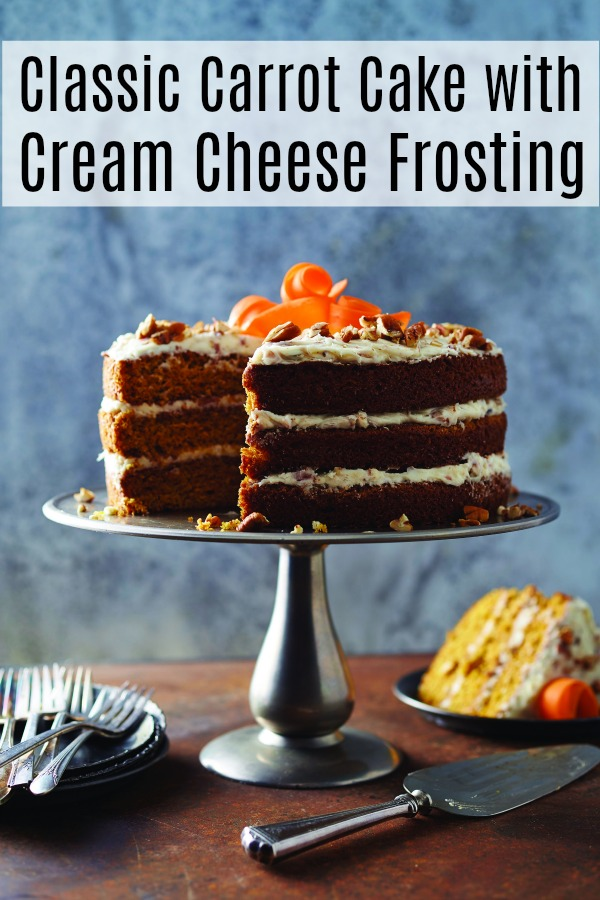 Classic carrot cake with cream cheese frosting is a great dessert recipe. Learn how to make it and add it to your repertoire.