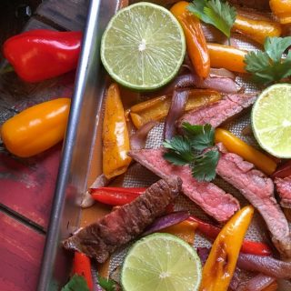 Quick and Easy Steak Sheet Pan Fajitas Recipe