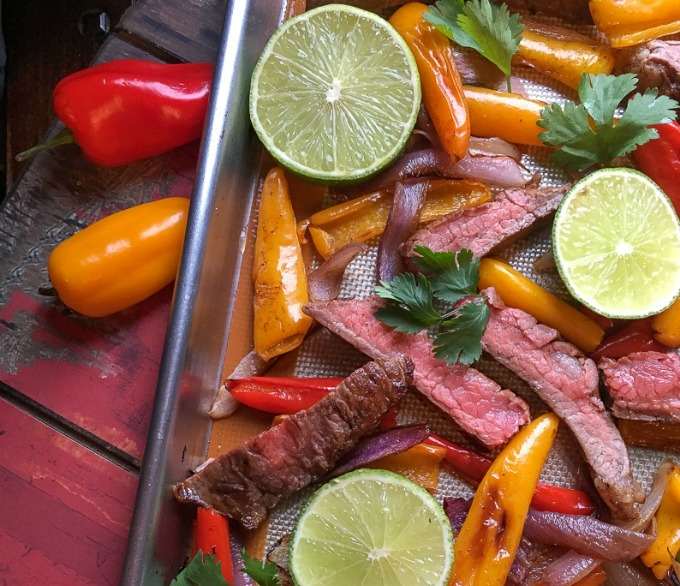 Make these quick and easy sheet pan steak fajitas in less than 30 minutes