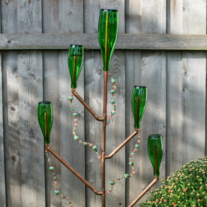 DIY Bottle Tree Sculpture for Your Garden or Yard