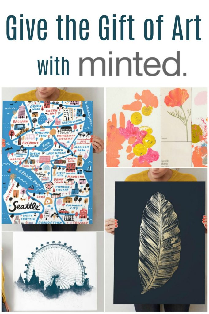 Art is a great gift for any holiday, occasion, or even housewarming. Check out some of our favorite option from Minted.