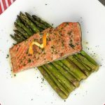 Orange glazed salmon and asparagus recipe. Paleo friendly