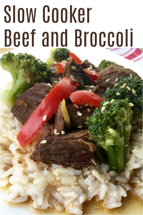 An easy and healthy version of Broccoli Beef, made in the crockpot. It's a great weeknight dinner alternative to takeout. And this slow cooker recipe is so easy, you'll never miss the calories from Chinese food.