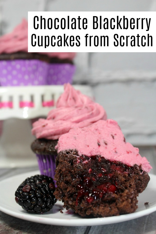 How to make Chocolate Blackberry Cupcakes from scratch. This recipe is pretty easy, and will impress everyone.