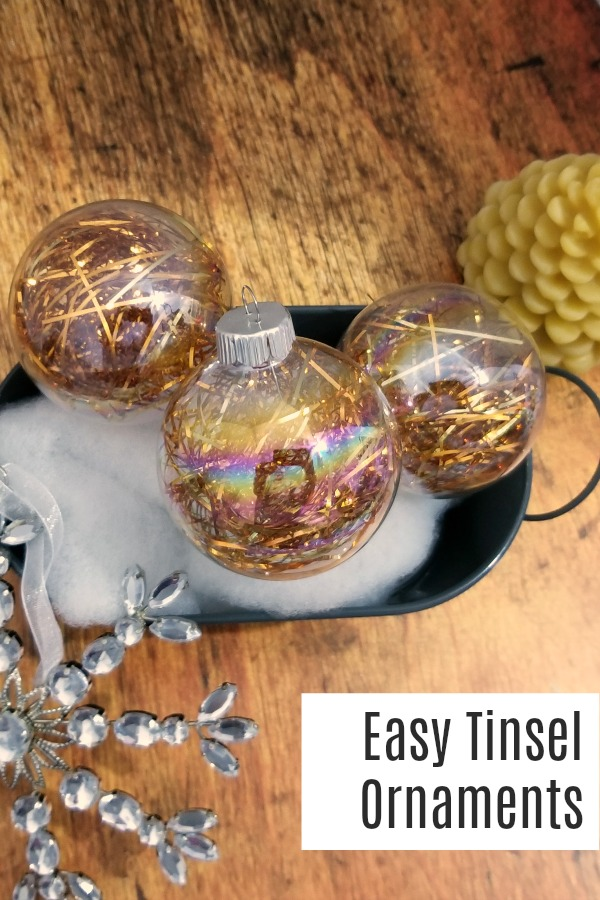 How to make easy tinsel ornaments for Christmas | DIY Tutorial