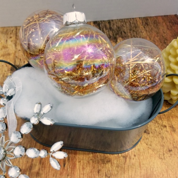 quick and easy tinsel christmas ornaments
