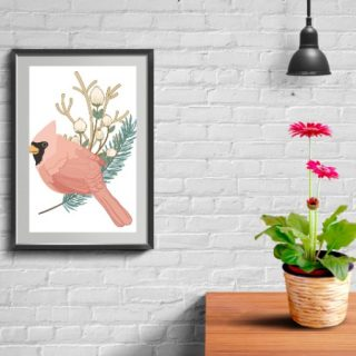 This Winter cardinal free printable is a great addition to your holiday decor. Available in three sizes, too