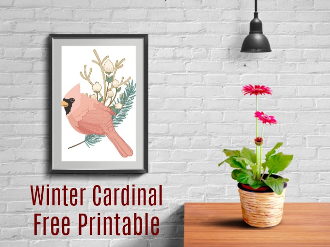 Love birds? Get this Winter Cardinal free printable and spruce up your winter and holiday decorations. Perfect for traditional or modern decor. Available in 5x7, 8x10, and large format 13x19 sizes