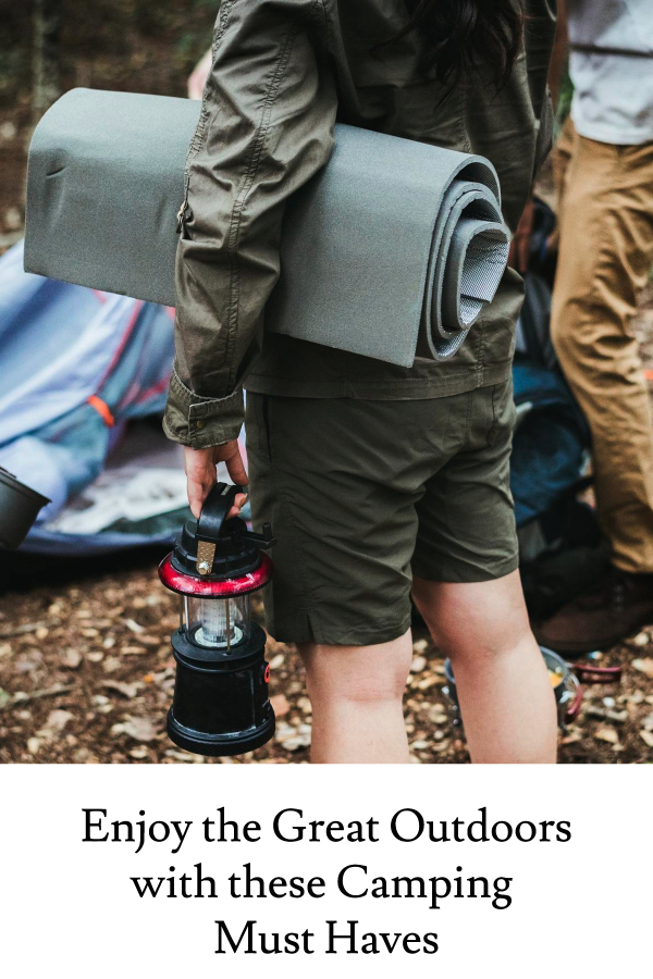 Enjoy the great outdoors with these must haves for your next camping trip.