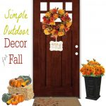 Decorate your front door and entryway for fall and autumn