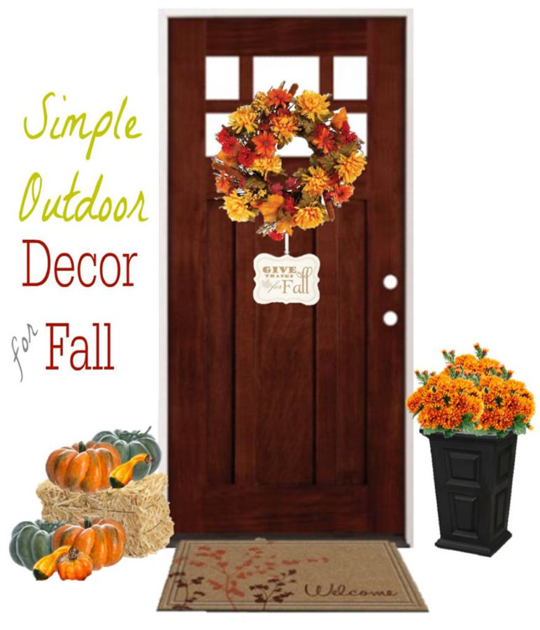 Fabulous DIY Front Door Enteyway decor idea for fall and autumn | Home decor | Design | Mums | pumpkins | farmhouse