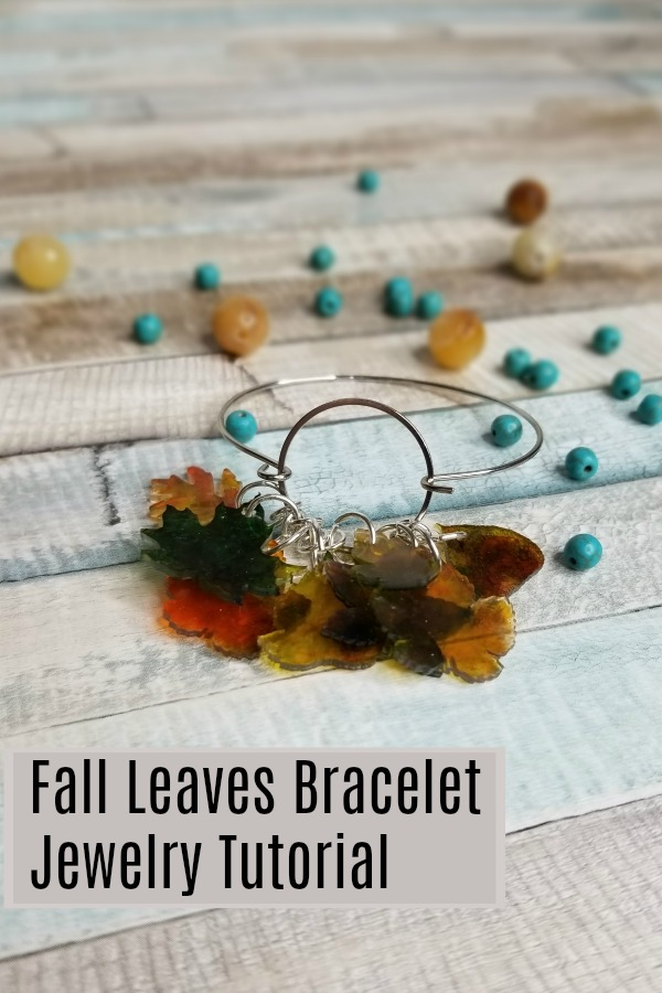 Fall Leaves Easy DIY Bracelet Turotial | Autumn Leaf | Cricut | Shrink Plastic | Alcohol Ink | Jewelry