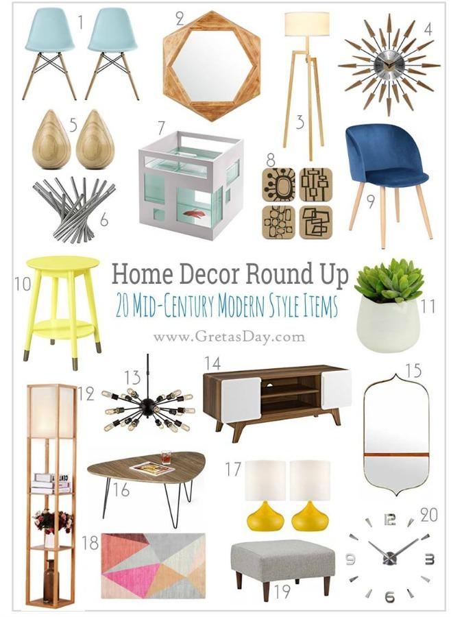 20 Fab Mid Century Modern Home Decor Pieces Under 150