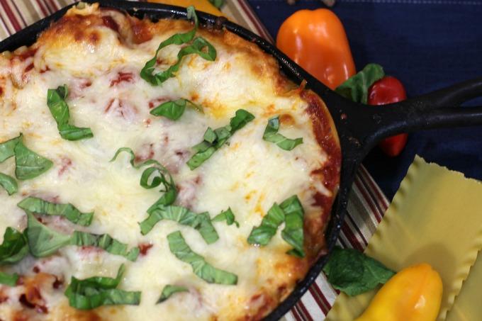 Rustic Kale Cast Iron Lasagna