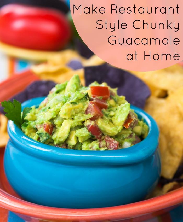 Homemade Chunky Guacamole Recipe