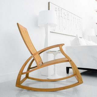 Aria Modern Teak Rocking Chair Giveaway – $1700+ value