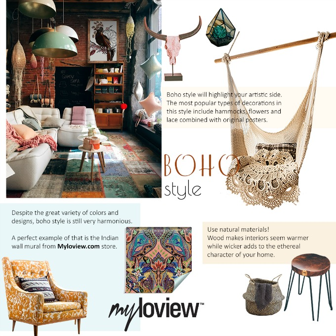 Elements and directions on how to get the Boho Chic look for your home