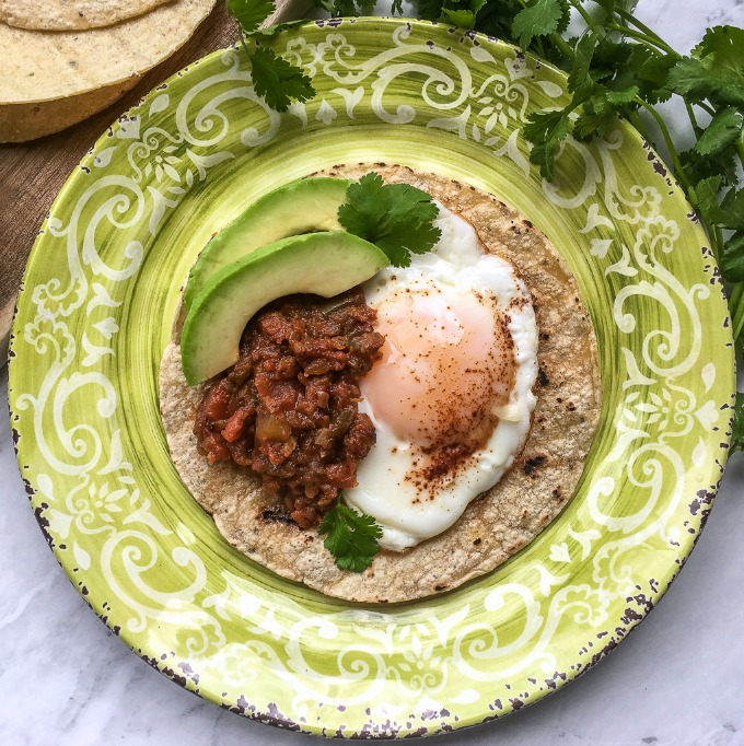 simple and easy Mexican breakfast eggs dish