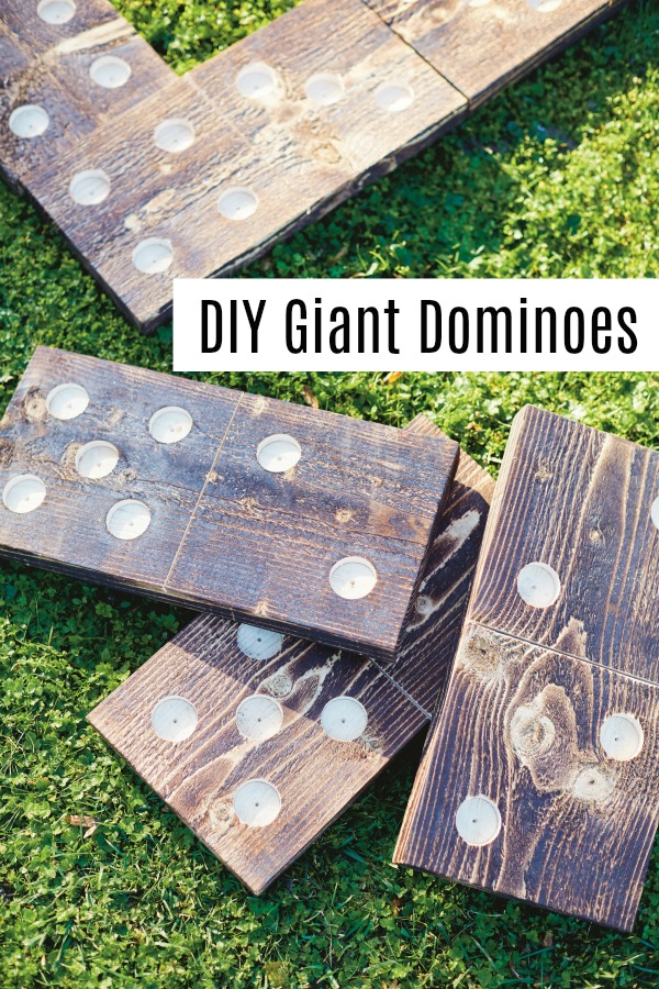 How to make giant DIY Yard Dominoes. The perfect party game to kick of summer celebrations. | Easy DIY tutorial | yard games | upcycled |
