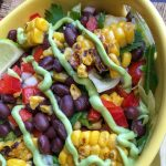 Tasty and delicious Vegetaian Mexican Chipped Salad