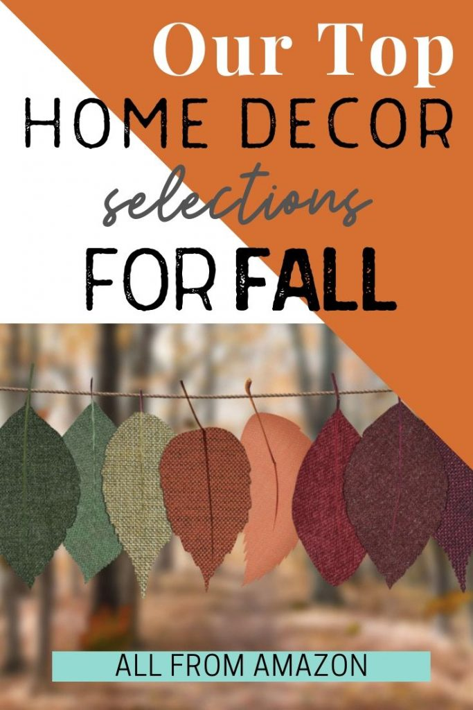 Our favorite home decor items for fall and autumn that are available from Amazon